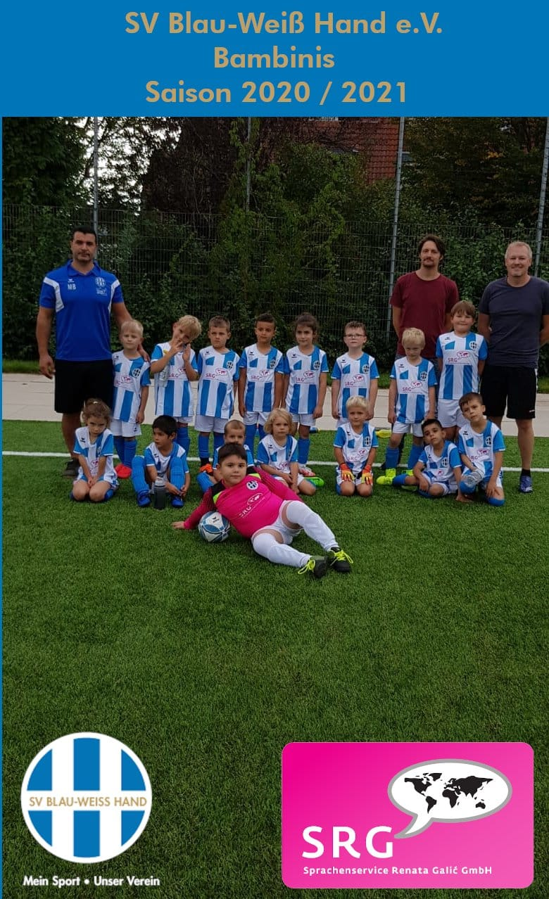 Blau Weiß Hand Sportverein Fußball Bambini