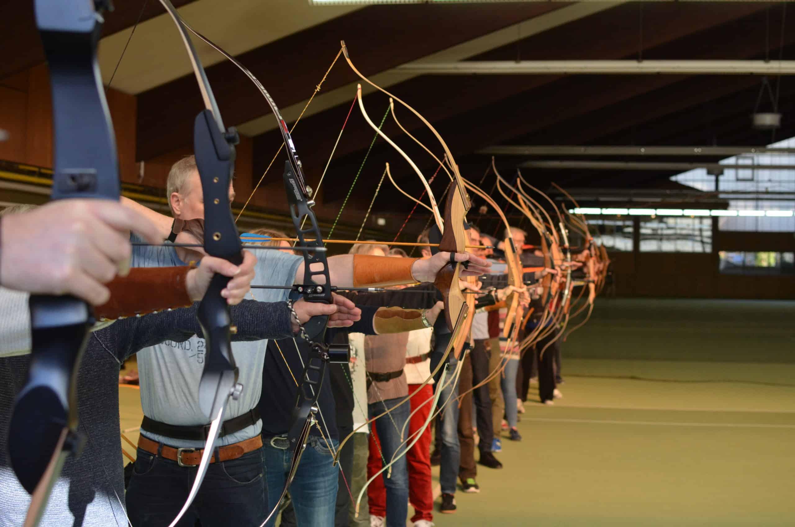 Blau Weiß Hand Sportverein Bogensport