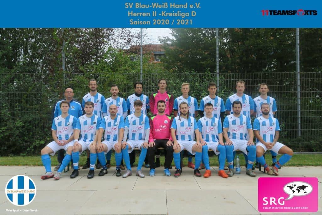 Blau Weiß Hand Sportverein Fußball Herren
