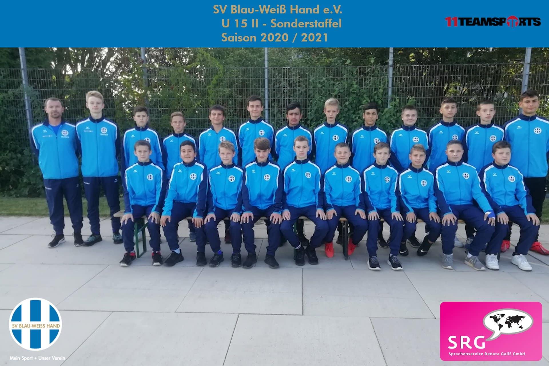 Blau Weiß Hand Sportverein Fußball U15II
