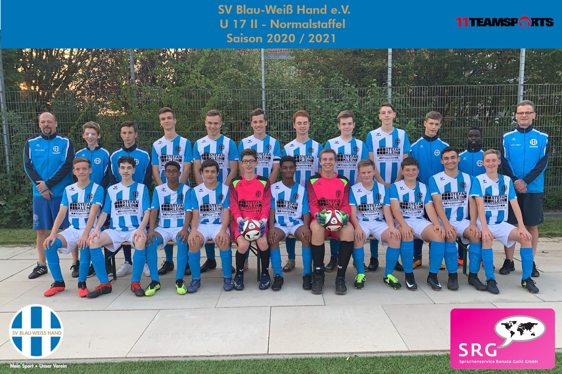 Blau Weiß Hand Sportverein Fußball U17 2
