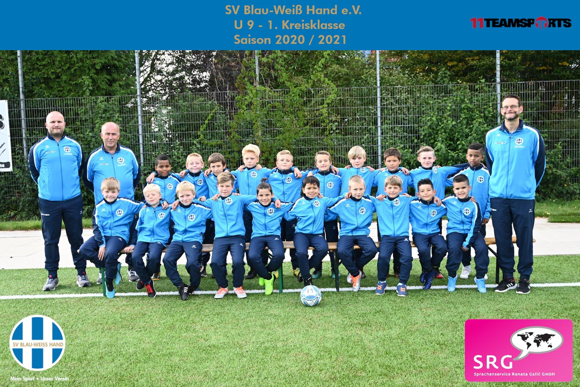 Blau Weiß Hand Sportverein Fußball U9