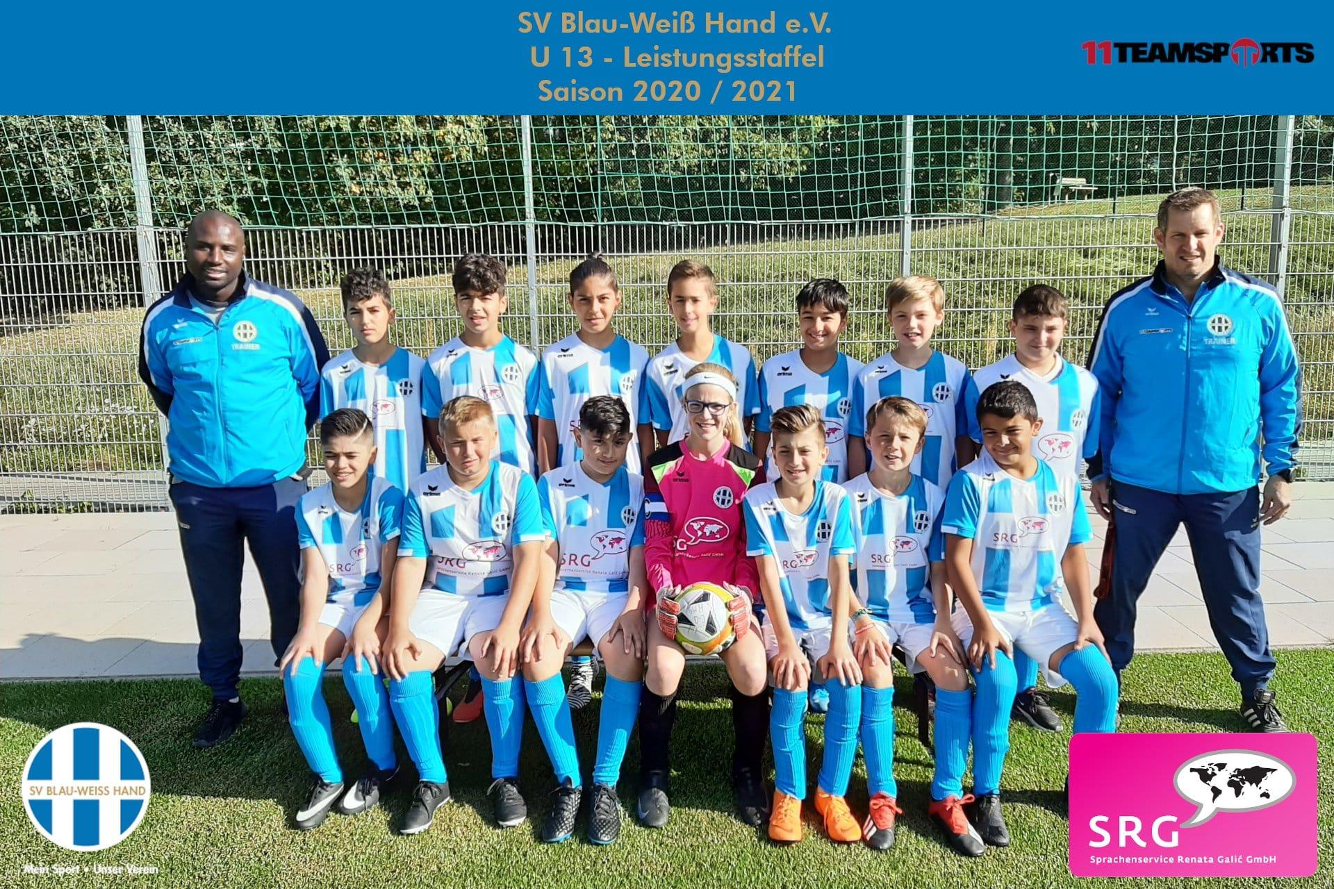 Blau Weiß Hand Sportverein Fußball U13