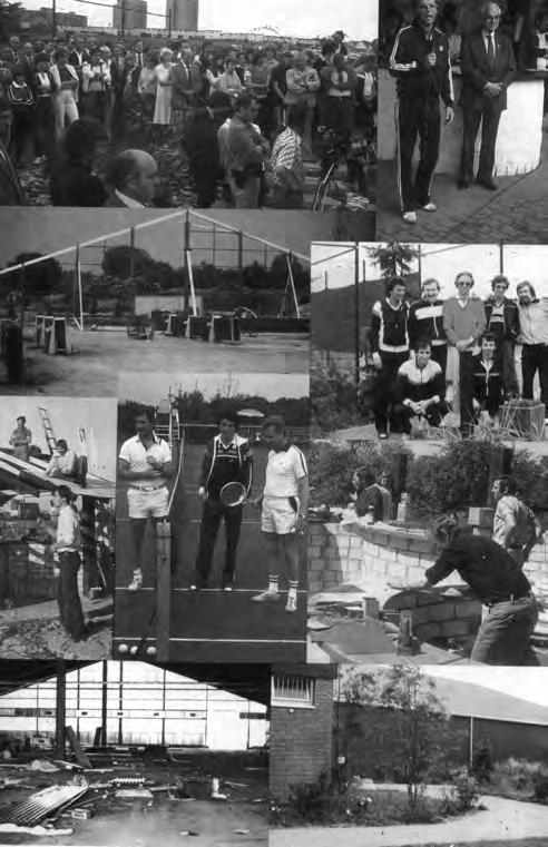 1983 Bau Tennishalle
