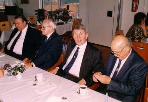 1987 verleihung vrnl Josef Konkulewski juergen klein willi pollmeyer hans kierspel