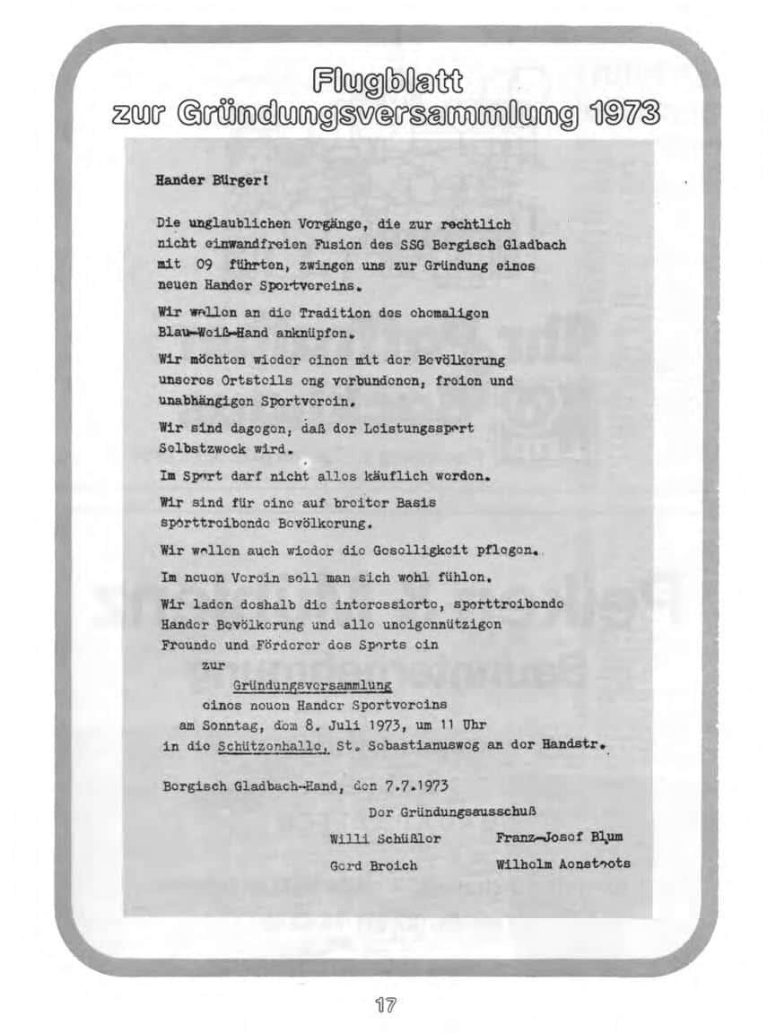 flugblatt Gruendungsversammlung 1973